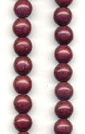8mm Magnesite Deep Plum Beads