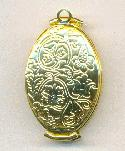 Gold Oval Folding Locket - BULK