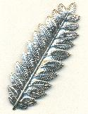 84x29mm Antique Silver Leaf Stampings