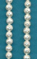6mm Acrylic Baroque White Pearl Beads