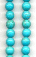 Strand of Turquoise Magnesite Beads