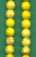 Strand of Yellow Magnesite Beads