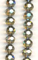 9mm Black Diamond AB Luster Glass Beads