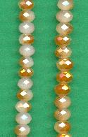 6x4.5mm Light Pink/Gold Faceted Rondelle
