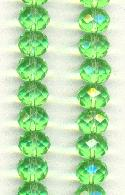 10x8mm Peridot Faceted Glass Beads