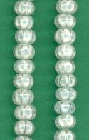 7x10mm White/Mint Green Millefiori Bead