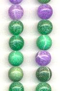 12mm Green/Purple/Pink Druzy Agate Beads