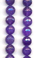 12mm Purple Faceted Fire Crackle Agate