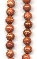 7.5mm Goldstone Round Beads