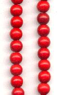 6mm Magnesite Red Beads