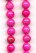 6mm Magnesite Hot Pink Beads