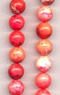 12mm White/Coral/Red Druzy Agate Beads