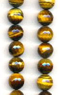 12mm Faceted Brown Tiger's Eye Beads