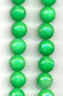 10mm Green Faceted Fire Agate Beads