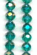 9mm Emerald/Luster Glass Beads