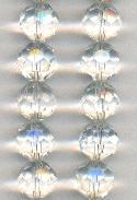 14mm Faceted Clear/Crystal Glass Beads