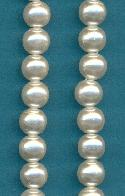 7.5mm Off-White Acrylic Pearl Beads