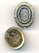 26x20mm Antique Silver Cast Post Earring
