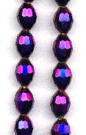 10x8mm Metallic Purple Faceted Beads