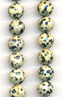 10mm Dalmation Jasper Faceted Beads