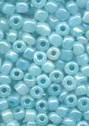 06/0 Aqua/Silver Luster Seed Beads