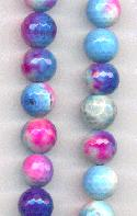 10mm Cotten Candy Faceted Agate Beads