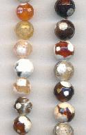 8mm Mixed Faceted Agate Beads