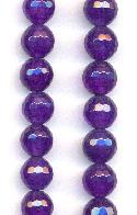 8mm Dark Purple Faceted Agate Beads