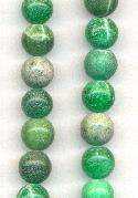 10mm Green Druzy Agate Beads