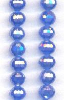 9mm Chinese Lt Sapphire/Luster Beads