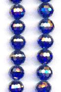 9mm Chinese Dark Blue/Luster Beads