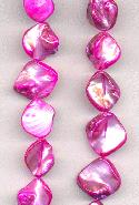 14'' Str Hot Pink Mother-of-Pearl Beads