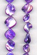 14'' Str Purple Mother-of-Pearl Beads