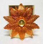 3'' Brass Cuff with Copper Flower, 65ss