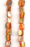 15'' Str Orange Mother-of-Pearl Beads