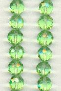 10mm Chinse Crystal Peridot Glass Beads