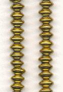 8x4mm Antique Gold Glass Beads
