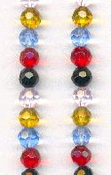 6mm Mixed Faceted Chinese Glass Beads