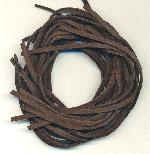 2.5mm Wide Brown Suede Precut Cord