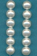 10mm Acrylic Round White Pearl Beads