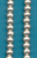 5mm Light Grey Glass Pearl Beads