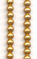 5.5mm Gold Glass Pearl Beads