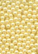 3mm NO-HOLE Cream Yellow Acrylic Pearls