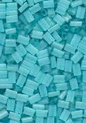 5x3.5mm Teal Glass Rectangle Beads