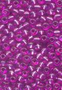 06/0 Fuchsia/Silver Lined Seed Beads