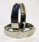 13mm Silver Colored Steel Hinged Bangle
