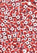 06/0 White/Red/Dk Red Seed Beads