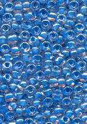 06/0 Blue Lined/Clear Seed Beads