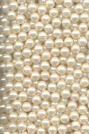 3.5mm Acrylic Creamy White Pearl Beads