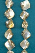 14'' Strand Beige Mother-of-Pearl Beads